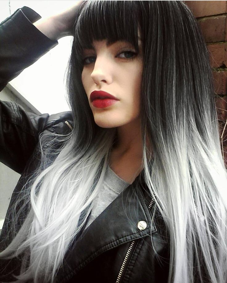 25 Best Ideas About Black And Silver Hair On Pinterest Black