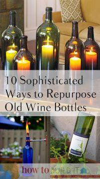 25+ best ideas about Old wine bottles on Pinterest | Glass ...