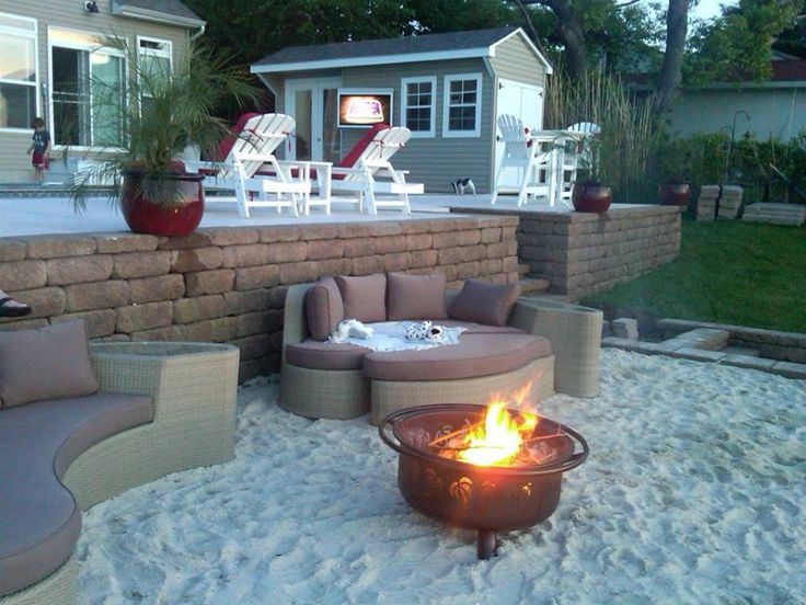 Cool Sand Around Firepit At The Beach  Backyard Project