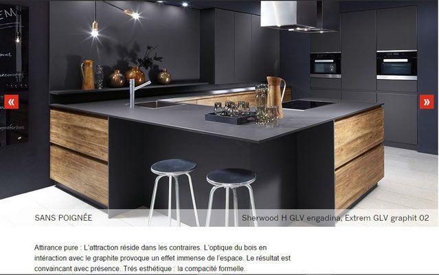 Cuisine Design Quand Le Bois Chaud Et Structure Sharmonise Avec Une Laque Mate Anthracite Toulouse Kitchen Pinterest Kitchen Ideas