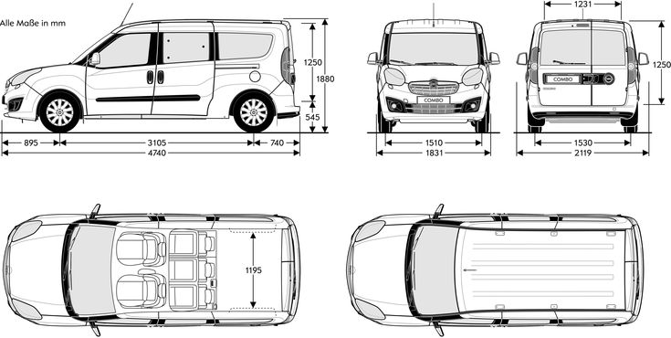 Dimension Fiat Doblo. recommended innolift model for fiat