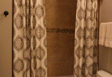 Shower Curtain With Cornice