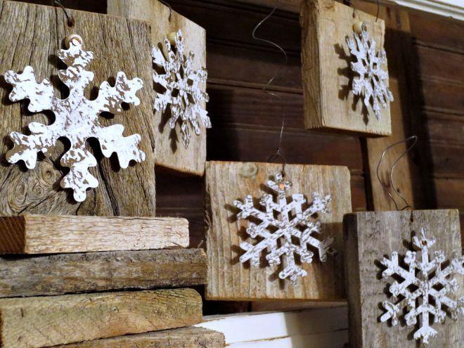 Easy Diy Snowflake Wood Christmas Ornaments Christmas
