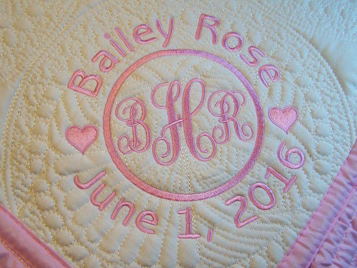 monogrammed baby blanket by perfectpolkadot on etsy 25 00
