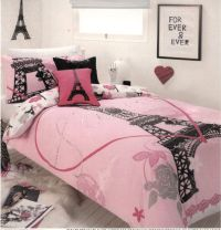 Paris France Comforter Set