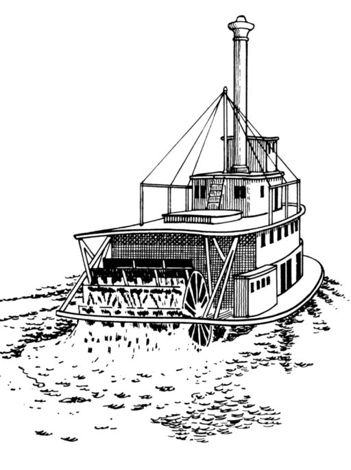 Free coloring pages of vintage and old-fashioned boats and