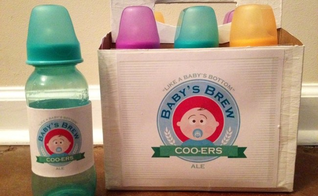 Baby Bottle Beer Race Baby Shower Game Diaper Party