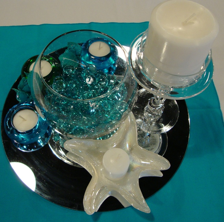 Ocean themed centerpiece  Quinceanera Ideas  Pinterest