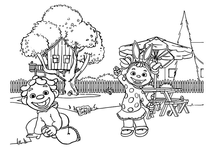 Sid looking for eggs coloring pages for kids, printable