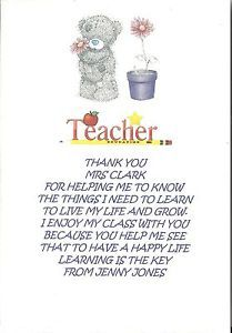 25+ best ideas about Thank you teacher poems on Pinterest
