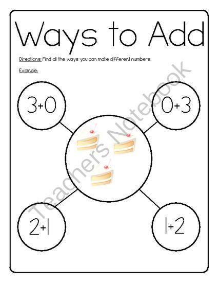 Ways to add from Miss Caroline on TeachersNotebook.com (10