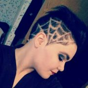 spiderweb design shaved hair