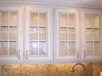 Custom Frameless Glass Cabinet Doors