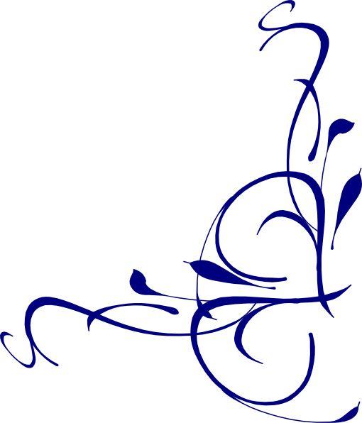 elegant swirl design clip art