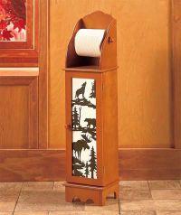 Northwoods Wildlife Bear Moose Lodge Wooden Toilet Paper ...