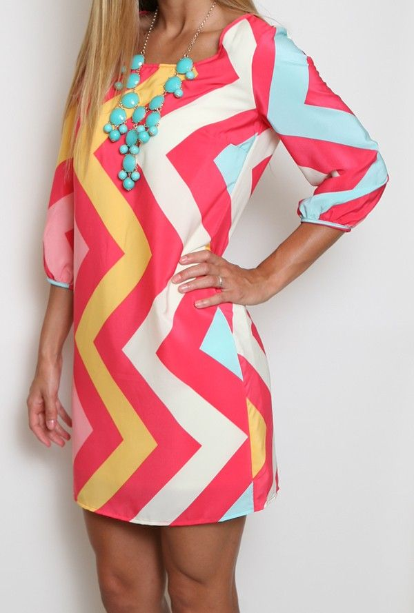 Girly Girl Chevron Dress- if only it wasnt open in the back.