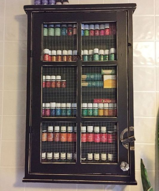 ESSENTIAL OIL STORAGE/ Nail Polish Cabinet or by LetThereBeWine: