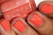 orange nails peachy