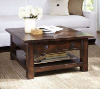 Benchwright Square Coffee Table - Rustic Mahogany ...