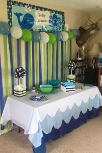 My sisters baby shower | Whale baby shower | Pinterest ...