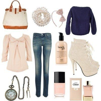 Fashion outfit collages