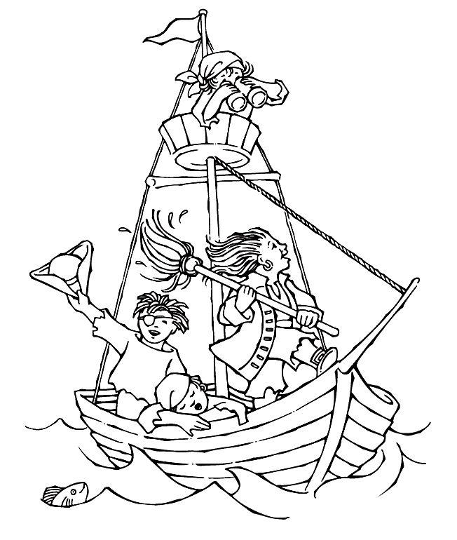 Piratenschip Kleurplaat Vll Kern 7