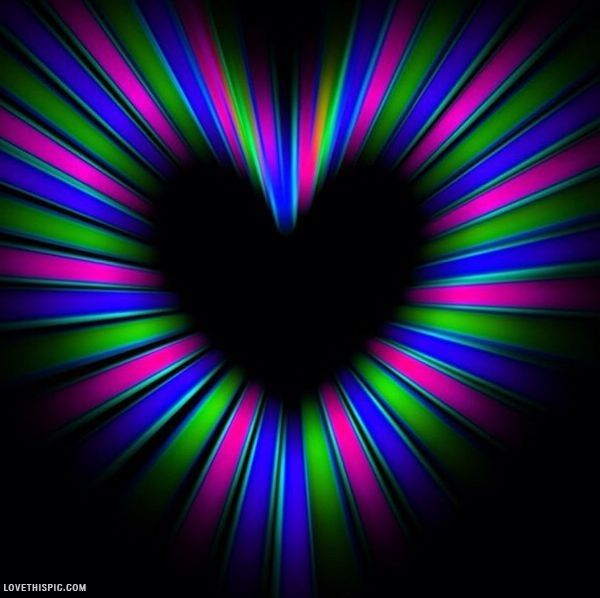 1000 Images About Colorful Hearts On Pinterest