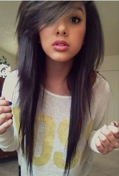 25 Best Ideas About Layered Scene Hair On Pinterest Long Emo