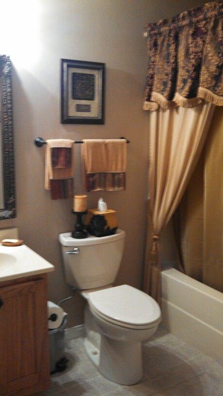 Small Tuscan Bathroom  Tuscan Decor  Pinterest  The O