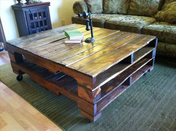 Wooden Pallet Coffee Table Plans