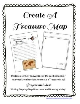 Treasure Map and Treasure Hunt:Cardinal and Intermediate