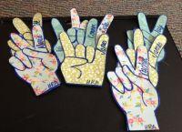 rock on & peace sign door decs | Student Life & Beyond ...
