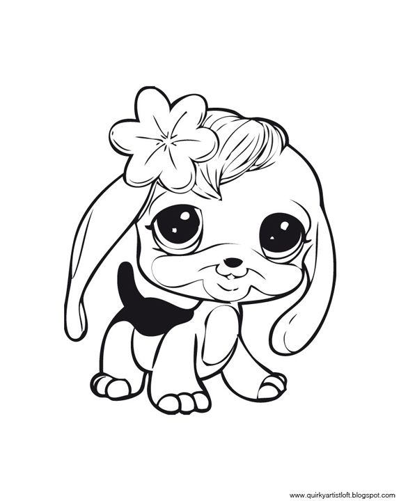Littlest Pet Shop Girly Monkey Cute Coloring Pages Free To