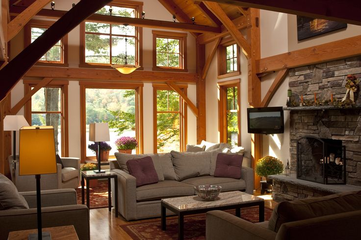log cabins interior pictures  Google Search  Western