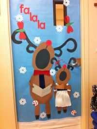 pinterest singing reindeer door decoration