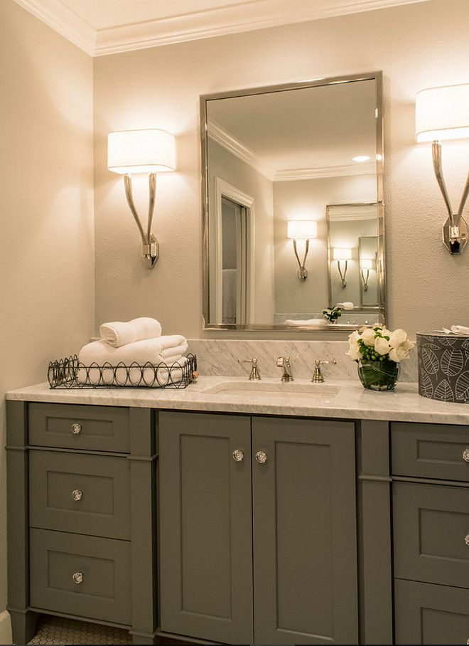 17 Best ideas about Grey Bathroom Cabinets on Pinterest