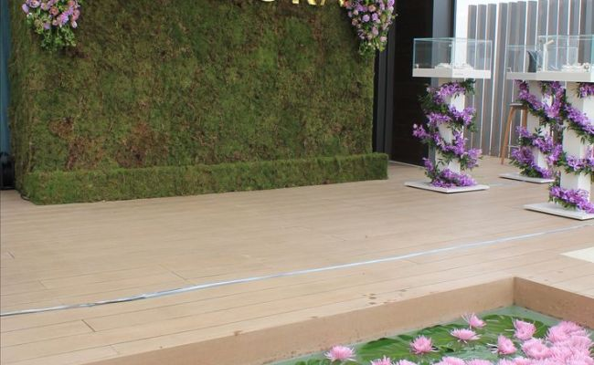 Beautiful Flower Wall And Styling Produced And Designed By