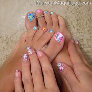 ideas flower toe