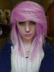 beatiful pink hair