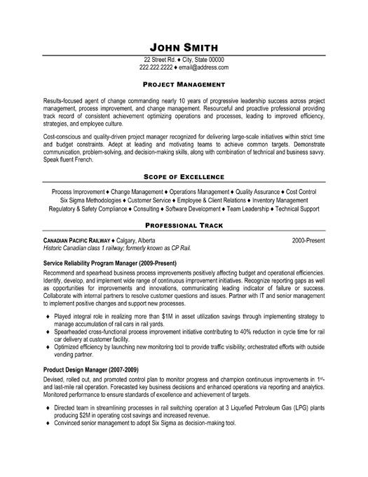 examples of project management resumes - Examples Of Project Management Resumes
