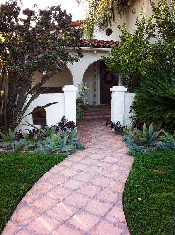 Spanish Colonial Entry Courtyard Design Pinterest Agaves
