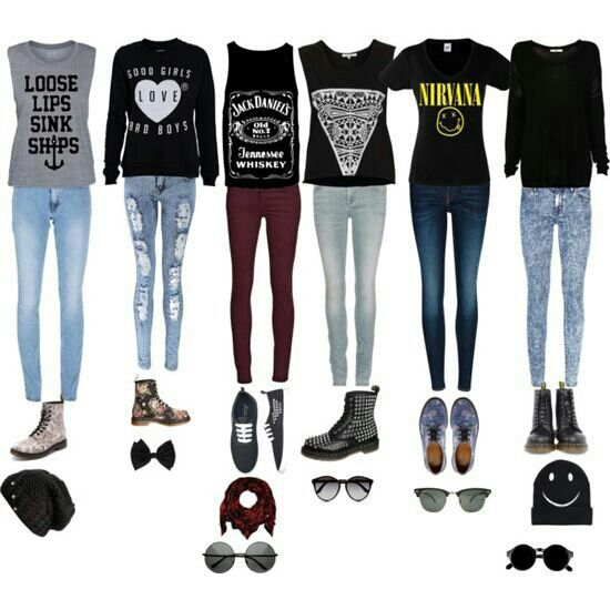 Edgy Casual Outfits For Both Girly And Rock Chicks