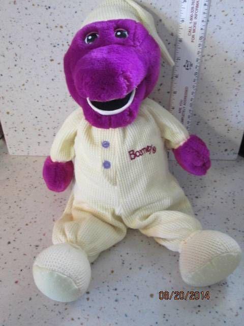 17 Barney the Purple Dinosaur in Thermal PJs Plush EUC Yellow Pajamas  ebay  Pinterest  Plush