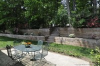 Private small terraced backyard | Landscaping | Pinterest ...