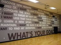 gym and fitness wall murals