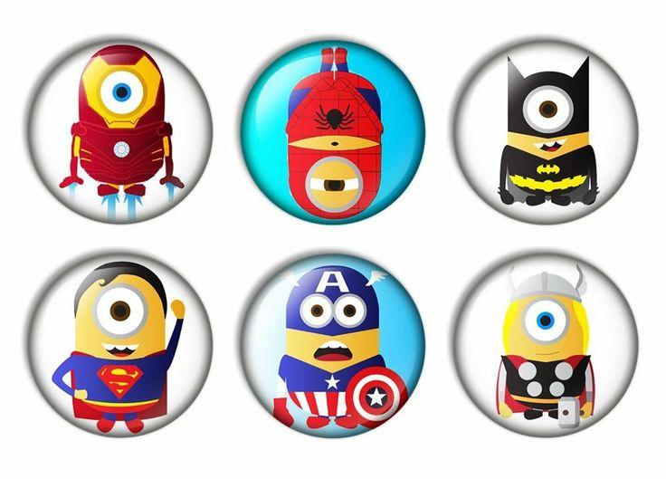 Amazon Com Minion Superhero Pinback Buttons Badges 1 Inch