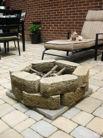 How to build a fire pit for