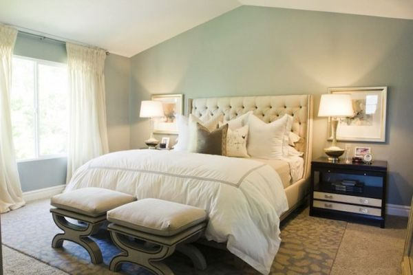 ivory and beige bedroom ivory, beige & blue-gray palette   SW Unusual Gray blue