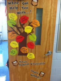 School counselor office door decoration.