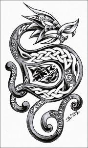 ideas celtic dragon